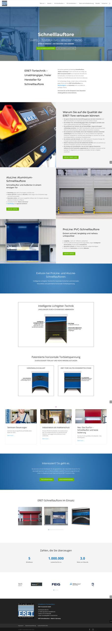 ERET Tortechnik GmbH -Website-Branding