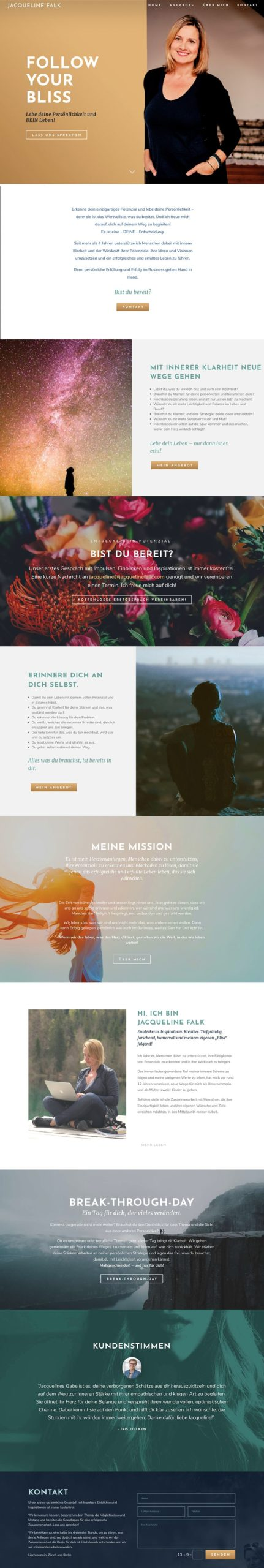 Jacqueline Falk Website-Branding