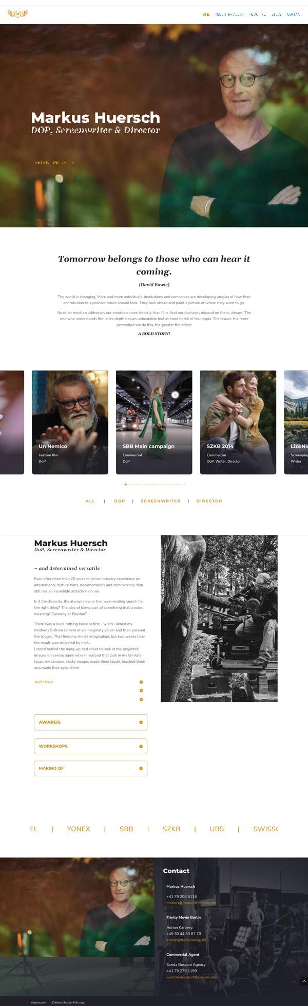 Markus Huersch Website-Branding